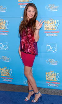Miley Cyrus at the Anaheim premiere of