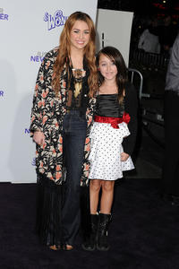 Miley Cyrus and Noah Cyrus at the California premiere of
