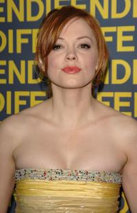 Rose McGowan at the Fendi celebration of the redesign of its Rodeo Drive flagship store.