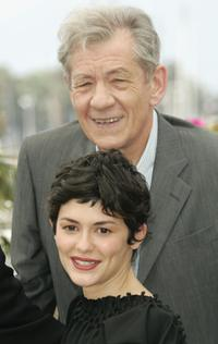 Sir Ian McKellen and Audrey Tautou at the 59th International Cannes Film Festival for promoting the film