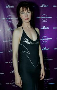 Jacqueline McKenzie at the Sci-Fi Channel talent party.