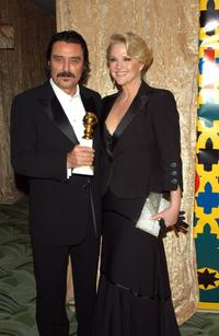 Ian McShane and his wife Gwen at the HBO Golden Globe After Party.