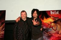 Meat Loaf and Nikki Sixx at the Press conference for Meat Loaf's ''Bat Out Of Hell 3'' Listening Party.