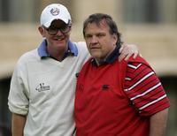 Meat Loaf and Chirs Evans at the Fourball matches of the 2006 Northern Rock All Star Cup.