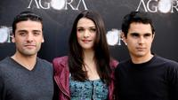 Oscar Isaac, Rachel Weisz and Max Minghella at the photocall of