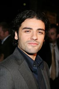 Oscar Isaac at the premiere of