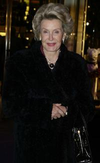 Dina Merrill at the Opening of the Asprey Flagship Store.