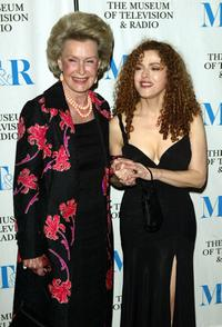 Dina Merrill and Bernadette Peters at the Museum of Television and Radio gala.