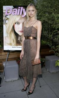 Gemma Ward at the fashion fete to celebrate the launch of the magazine Daily Mini.
