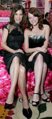 Perrey Reeves and Emma Stone at the Decadestwo and Hautelook.com