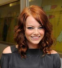 Emma Stone at the MTV TRL Presents Miley Cyrus and Teddy Geiger.