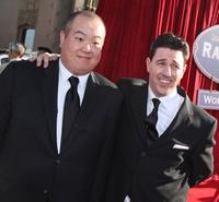 Peter Sohn and Lou Romano at the premiere of