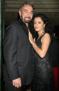 Kabir Bedi and Parveen Dusanj at the Morellato Party during the 2nd Rome Film Festival.