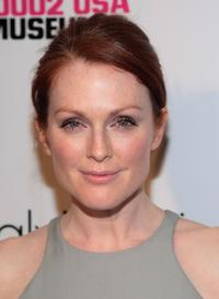 Julianne Moore at the grand reopening of the New Museum.