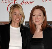 Julianne Moore and Belen Rueda at the premiere of