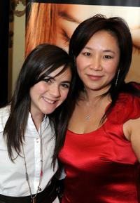 Isabelle Fuhrman and Guest at the DPA Golden Globes Gift Suite.