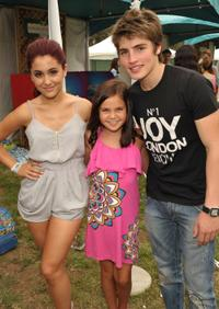 Ariana Grande, Bailee Madison and Gregg Sulkin at the 21st A Time For Heroes Celebrity Picnic sponsored by Disney.