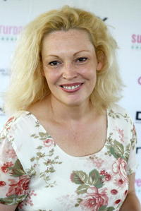 Cathy Moriarty at the Super Saturday in the Hamptons.