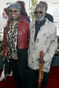Garrett Morris and his wife at the 2002 Independent Spirit Awards.