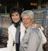 Michelle Lee and Robert Morse at the premiere of