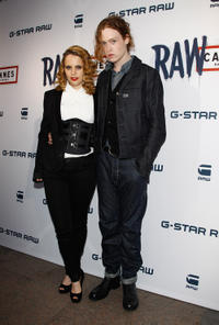 Anna Calvi and Caleb Landry Jones at the G-Star RAW Cannes Store Opening in France.