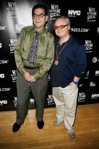 Michael Musto and Mickey Boardman at the NYC Extreme Locals Launch.