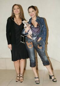 Ornella Muti and her daughter Naike Rivelli at the party for Italian watch and jewelry maker Breil at the Felix Club.