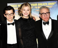 Asa Butterfield, Chloe Moretz and Martin Scorsese at the Royal Film Performance 2011 of