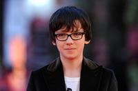 Asa Butterfield at the premiere of