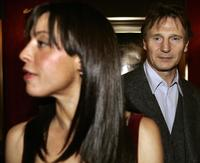 Liam Neeson and Drena De Niro at the World Premiere of