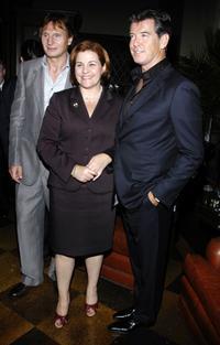 Liam Neeson, Councilwoman Christine Quinn and Pierce Brosnan at the 8th Annual Spirit of Ireland Benefit Gala.