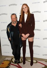 Terry Gilliam and Lily Cole at the premiere of