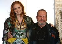 Lily Cole and Terry Gilliam at the Japan premiere of