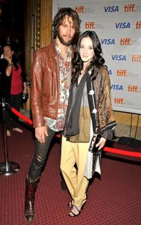 Andrea Riseborough and Guest at the premiere of