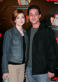 Alyson Hannigan and Thomas Ian Nicholas at the Dodgeball: The Celebrity Tournament to benefit the Elizabeth Glaser Pediatric Aids Foundation.