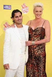 Brigitte Nielsen and her husband Mattia Dessi at the Comedy Central Roast of Flavor Flav at Warner Bros. Studio Lot.