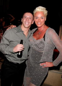Eric Stein and Brigitte Nielsen at the 2007 Fox Reality Channel Really Awards.