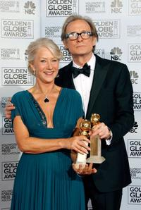 Bill Nighy and Helen Mirren at the 64th Annual Golden Globe Awards.