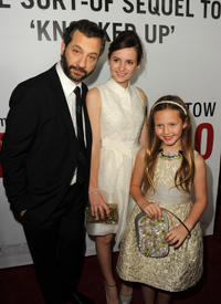 Judd Apatow, Maude Apatow and Iris Apatow at the California premiere of