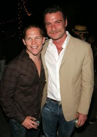 Jack Noseworthy and Liev Schreiber at the afterparty of the premiere of