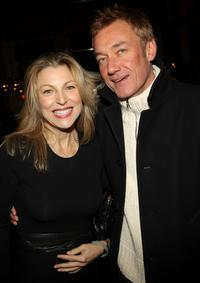 Tatum O'Neal and Hunter Hill at the after-party for