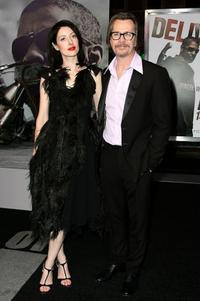 Gary Oldman and Guest at the California premiere of