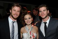 Chris Hemsworth, Bella Heathcote and Liam Hemsworth at the Australians In Film's 2010 Breakthrough Awards.