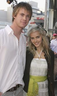 Chris Hemsworth and Isabel Lucas at the Launch of La Senza Ultimate Lingerie.