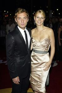 Jude Law and Gwyneth Paltrow at the UK premiere of