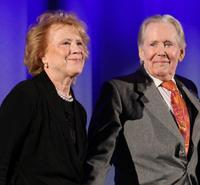 Judy Parfitt and Peter O'Toole at the premiere of