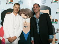 Matt Stone and Trey Parker at the Comedy Central celebration of South Park's 10th Year.