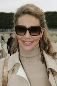 Marisa Berenson at the Christian Dior Fashion show during the Sping/ Summer 08.