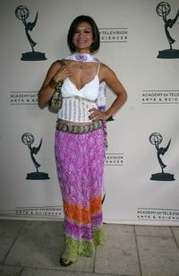 Nia Peeples at the Academy of Television Arts and Sciences Daytime Emmy Nominee Reception.