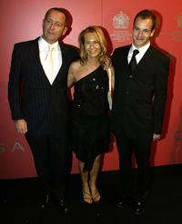 Sean Pertwee, Jackie Hamilton Smith and Johnny Lee Miller at the Garrard jewellers launch party.